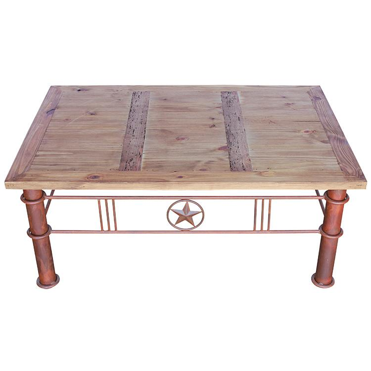 Rustic Pine Collection Iron Star Coffee Table Cen421