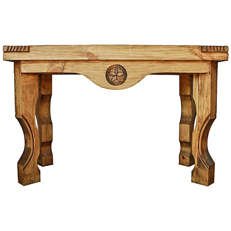 Rustic Pine Sofa Table: Yugo Star Console Table