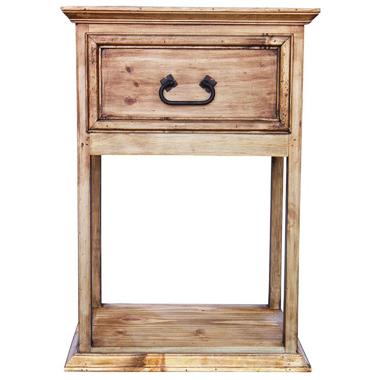 rustic pine collection santa fe nightstand bur71
