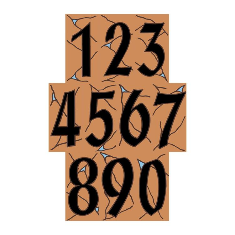 all numbers - Decorative House Numbers