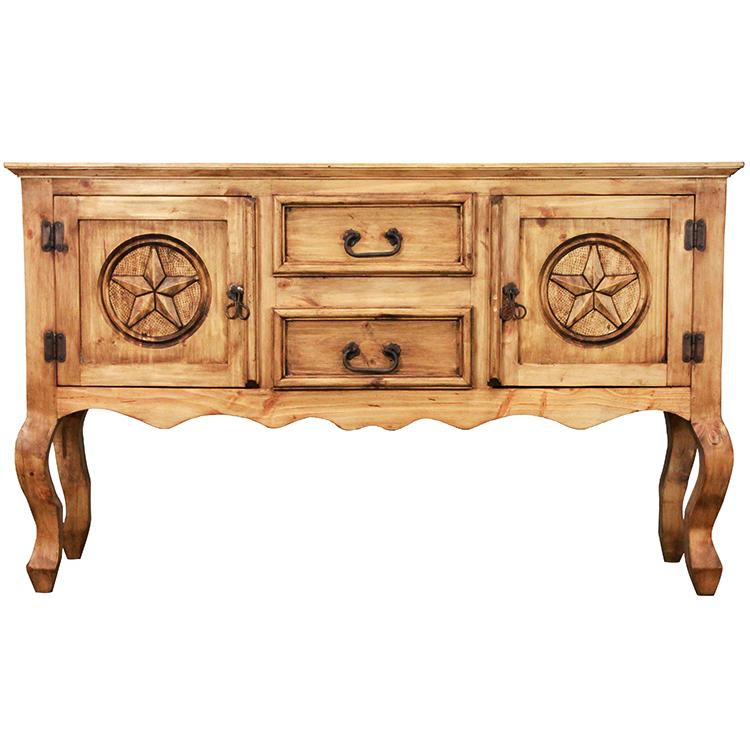 rustic pine collection sm santa fe console table