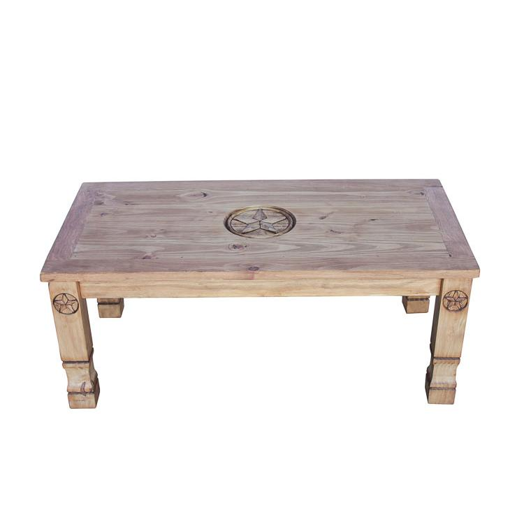 Rustic Pine Collection Marina Nine Star Coffee Table Cen508