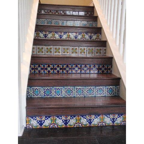 Mexican Tile Stairs Photos Freezer And Stair Iyashix