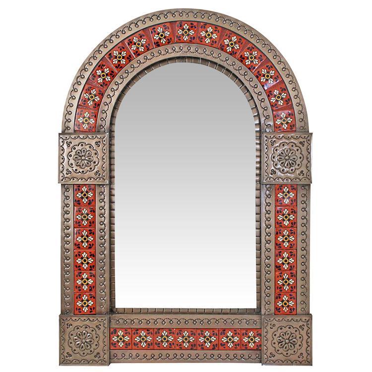 http://www.lafuente.com/Mexican-Decor/Tin-and-Tile-Mirrors/Talavera-Tile-Mirrors/