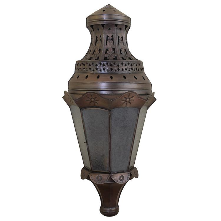 Mexican Metal Wall Sconces : Mexican Tin Lighting Collection - Sofia Wall Sconcew/Crackled Glass - LAMW80