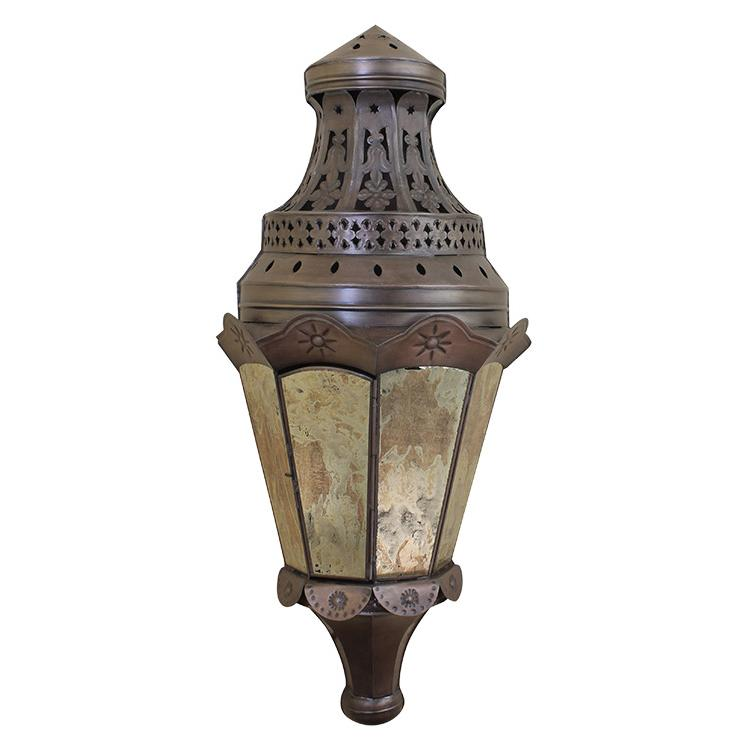 Mexican Tin Lighting Collection - Sofia Wall Sconcew/Antiqued Glass - LAMW82