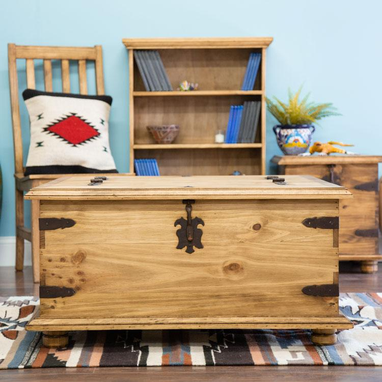 Pine Coffee Table Trunk