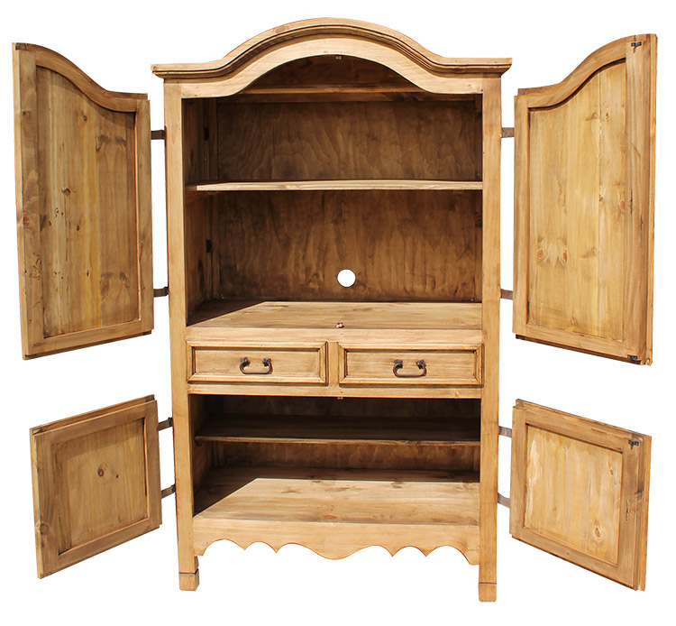 rustic pine collection sierra armoire arm12