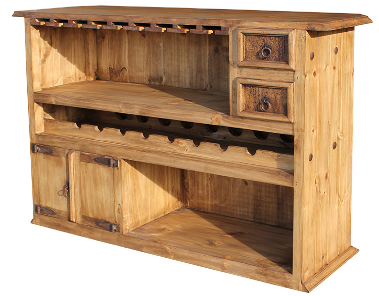 rustic pine collection basement bar bar03