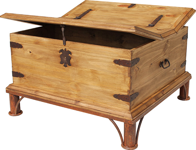 Rustic Pine Collection Trunk Coffee Tablew Base Cen68