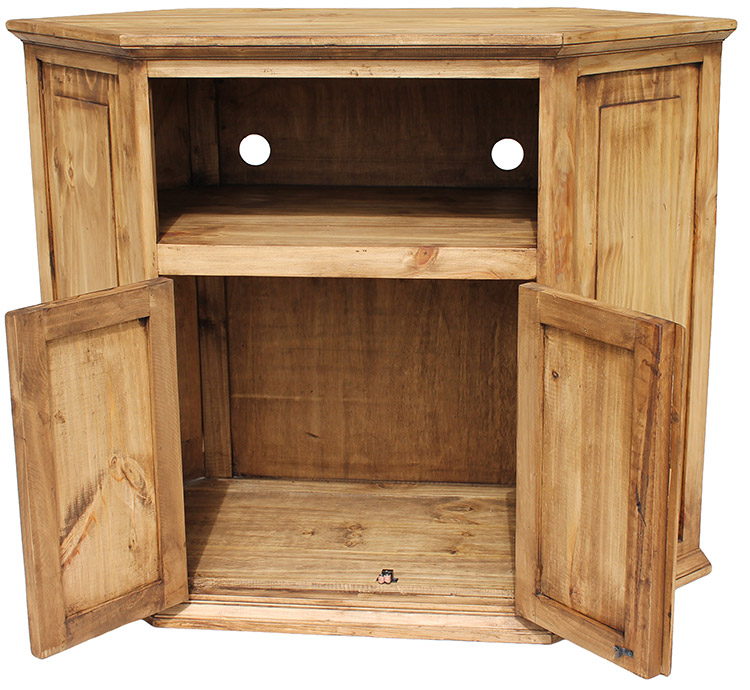 Rustic Pine Collection - Corner TV Stand - COM11