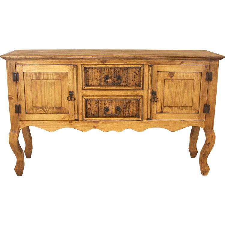 rustic pine collection small santa fe console table con116