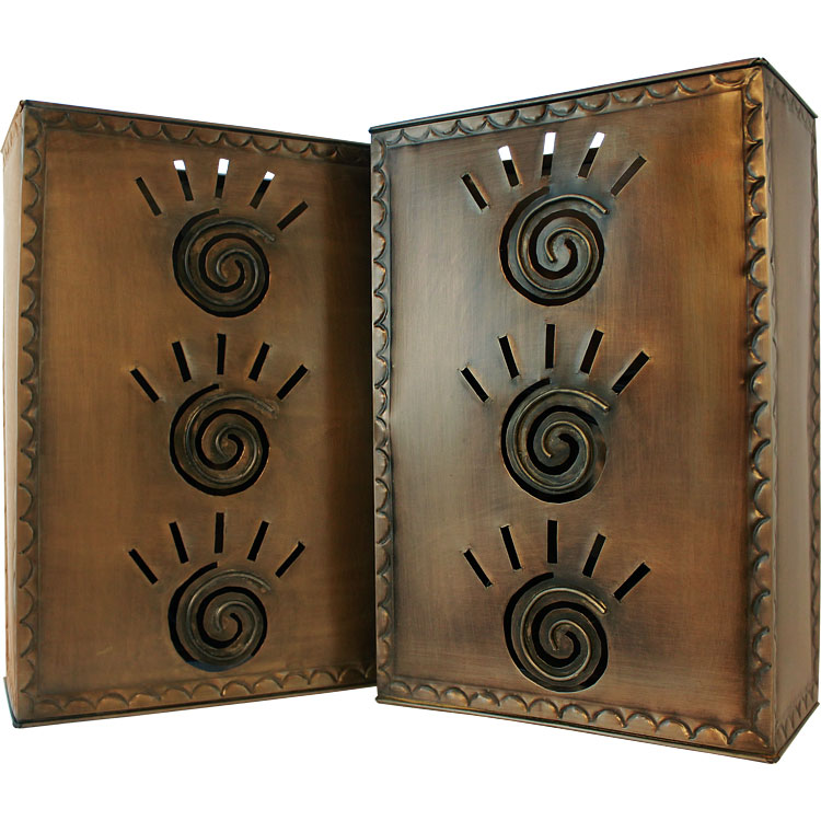 Wall Sconces Mexican : Mexican Tin Lighting Collection - Square Taos Wall Sconce - LAMW07