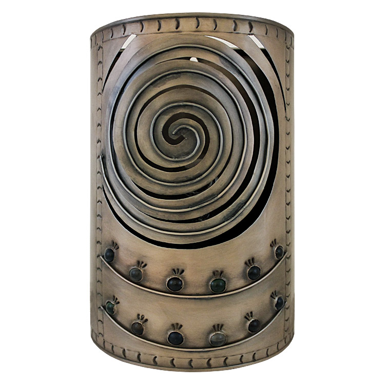 Mexican Metal Wall Sconces : Mexican Tin Lighting Collection - Whirlpool Wall Sconce - LAMW08