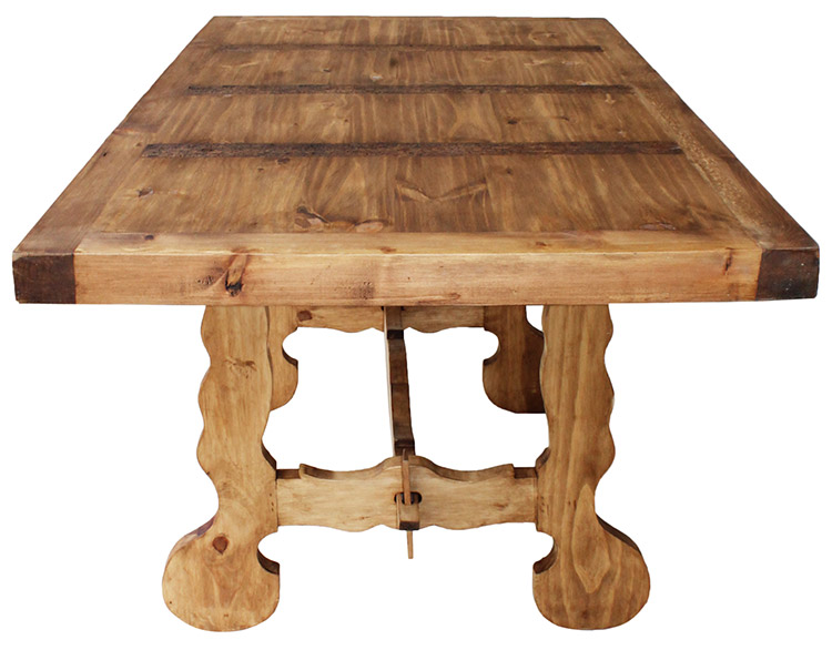 Rustic Pine Collection Farmhouse Dining Table MES116