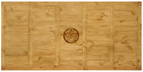 Dining Table Top View rustic pine collection - hacienda nine star dining table - mes510