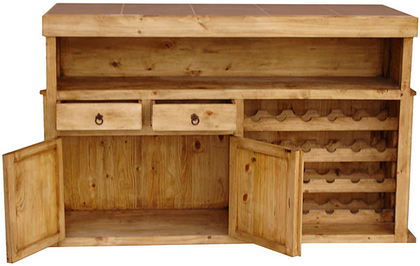 Rustic Pine Collection Cantina Star Bar W Tile Top Bar508