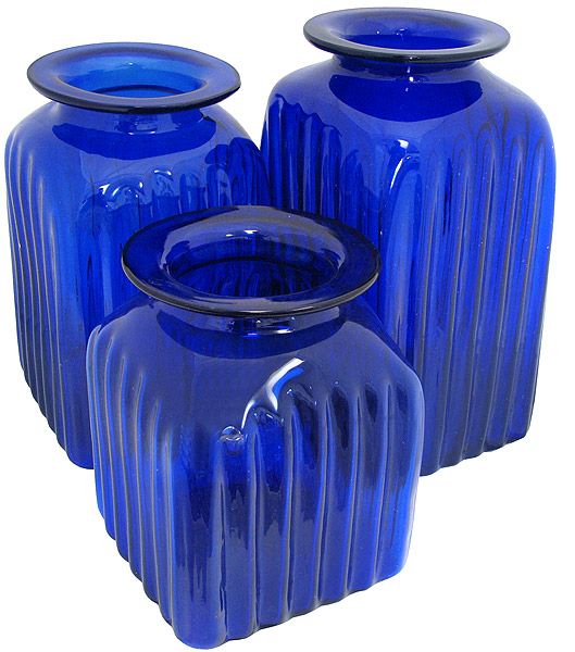 Blown glass canisters collection rooster kitchen canister gkc001 - Blue glass kitchen canisters ...
