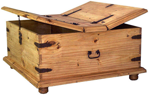 Rustic Pine Collec . Trunk Mexican Rustic Pine Coffee Table ...