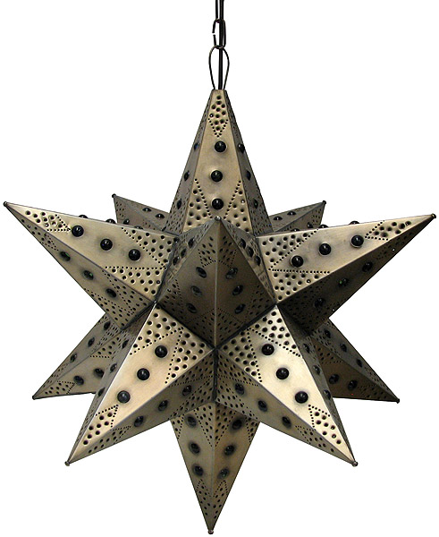 Mexican Tin Lighting Collection Acapulco Star w Marbles