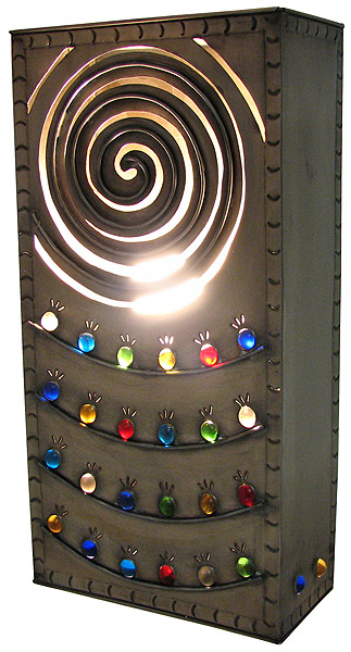 Mexican Tin Lighting Collection Square Whirlpool Wall