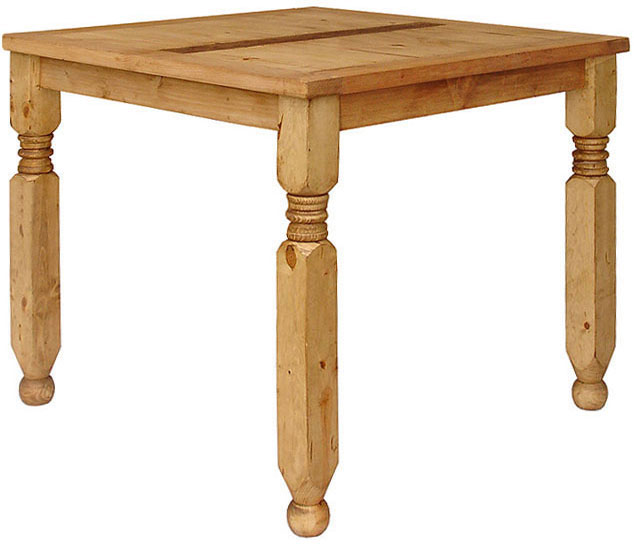 Pine Dining Table on Rustic Pine Collection   Square Lyon Dining Table   Mes517