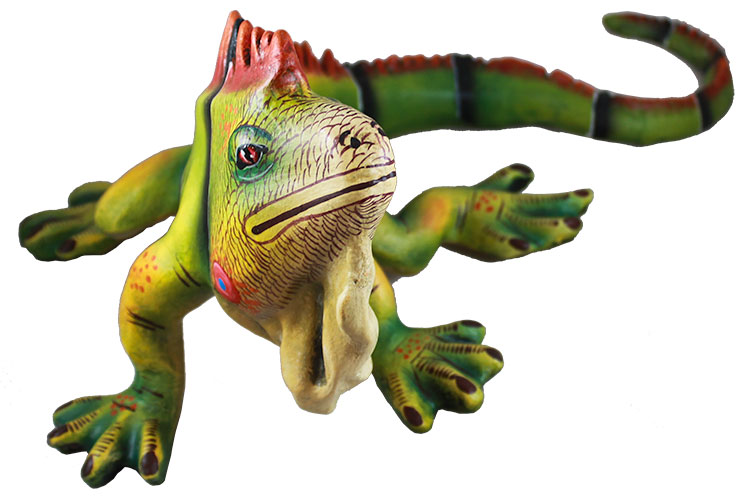 Art By Mundo Pequeno Collection Paper Mache Iguana Pm481