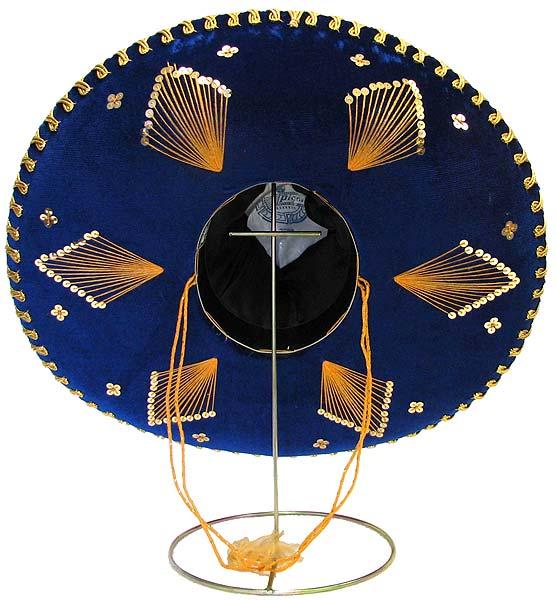Mexican Sombreros Collection Blue Amp Gold Charro Sombrero