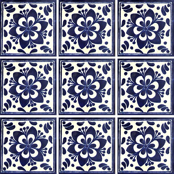 Painted wooden patio furniture - Talavera Tile Collection Talavera Tile