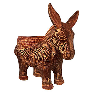 Clay Donkey Planter