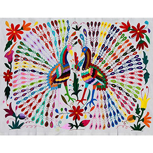Otomi Tapestry. Embroidered Otomi textiles ...