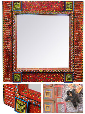 Painted Wooden Mirrors