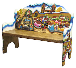 mexican painted furnitureColorful Carved Furniture from Mexico