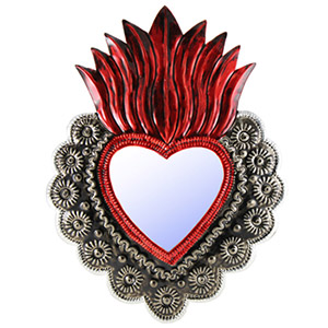 Red Sacred Heart Mirror