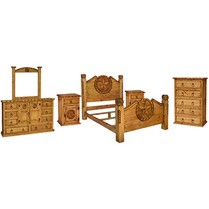 Rustic Pine Bedroom Set