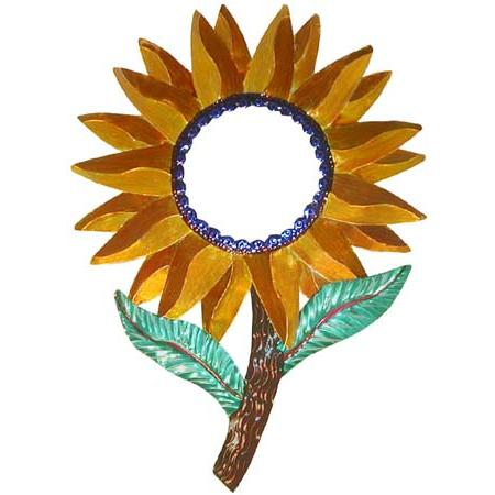 Painted Tin Mirrors Collection Sunflower Mirror Pmir100