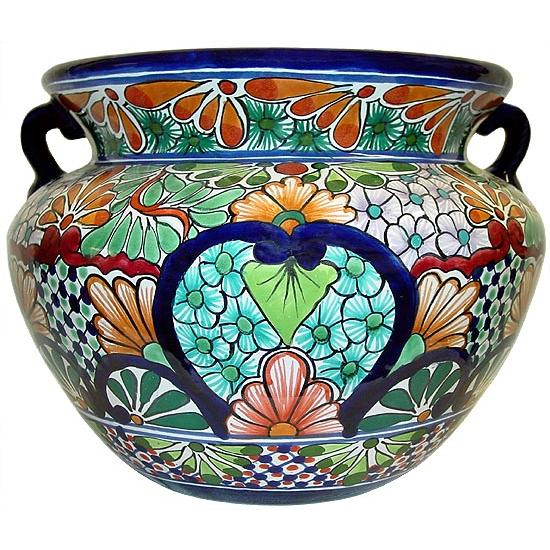 Mexican Hand Painted Large Vases