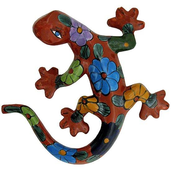 Outdoor Wall Decor Gecko : Talavera wall art collection lizard twa