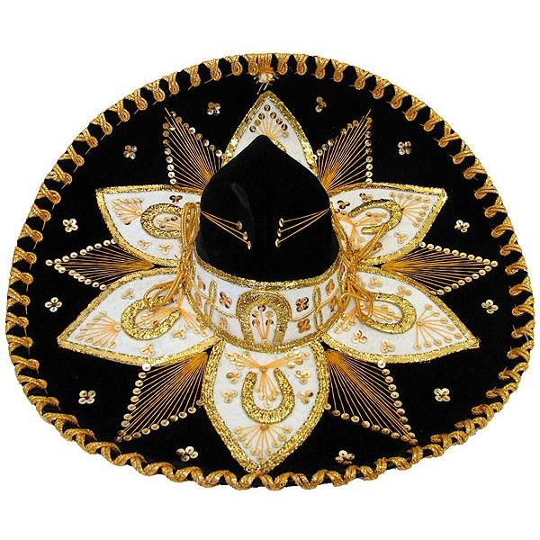 Mexican Sombreros Collection Black Amp Gold Charro