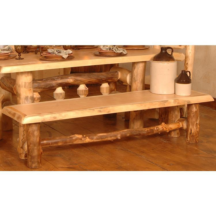 Aspen Log Collection Dining Bench Ben