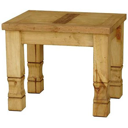 "La Fuente Imports Julio Mexican Rustic Pine End Table 23""..."
