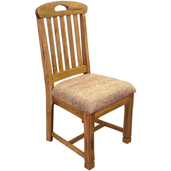 Rustic Oak Slate Collection Rustic OakSlatback Chair W Cushion 1416RO