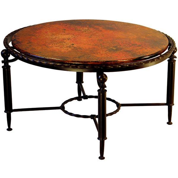 Copper Collection Durango Round Coffee Table Cof 86