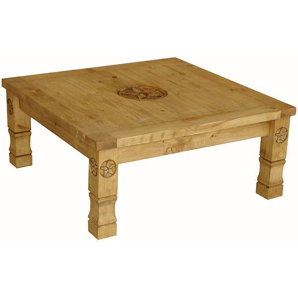 Rustic Pine Collection Square Marina 9 Star Coffee Table Cen507