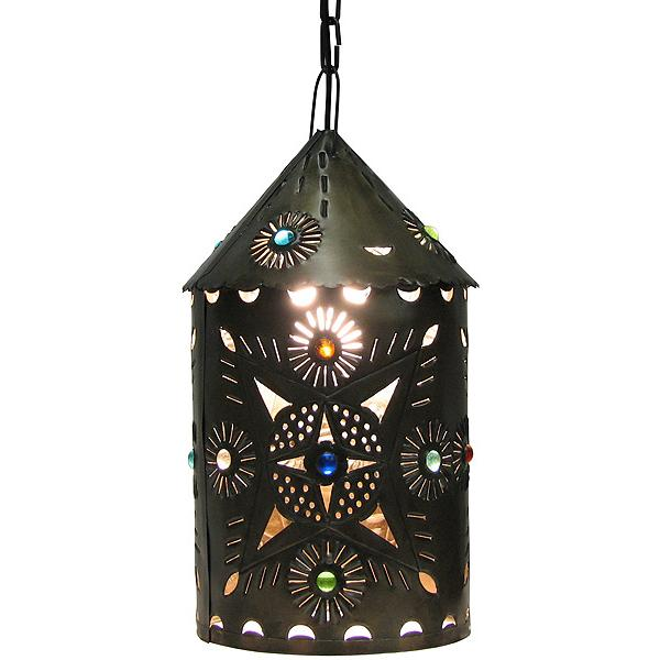 Mexican Tin Lighting Collection Toluca Lantern W Marbles