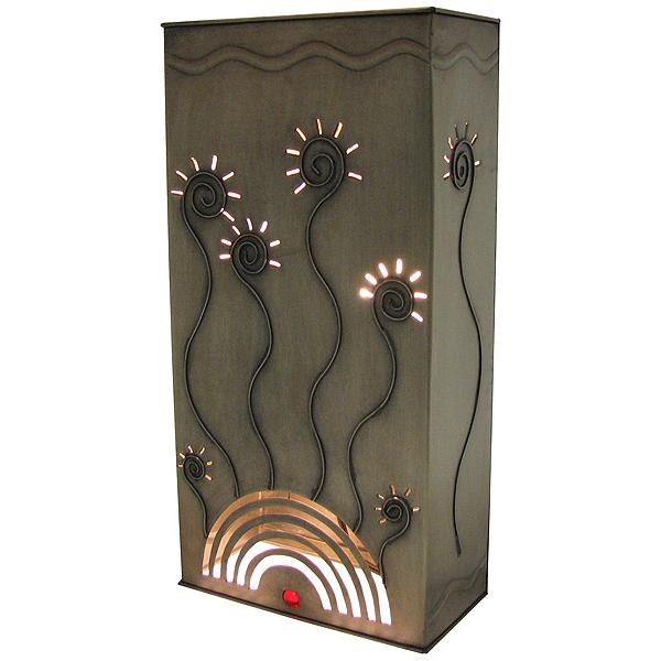 New Mexican Wall Sconces : Mexican Tin Lighting Collection - Square Verano Wall Sconce - LAMW03