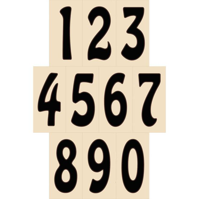 decorative tile collection house numbers sand hdns. Black Bedroom Furniture Sets. Home Design Ideas