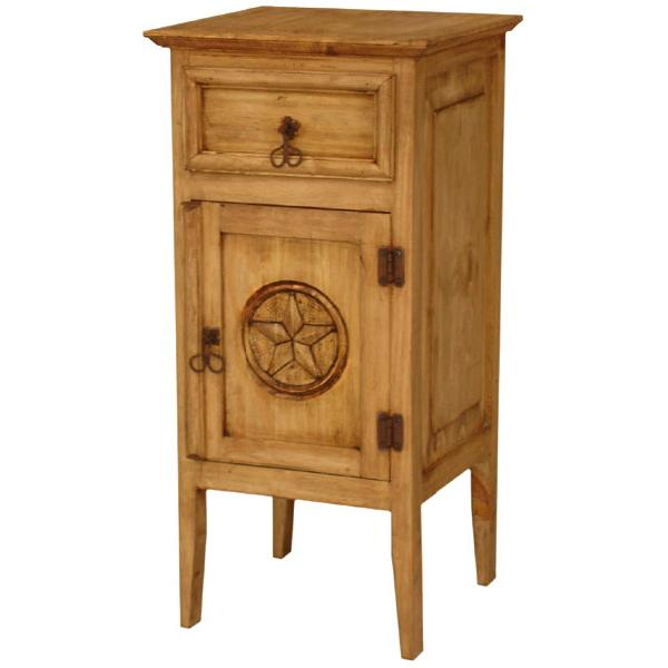 Rustic pine collection tall texas nightstand bur552 for Extra tall nightstands