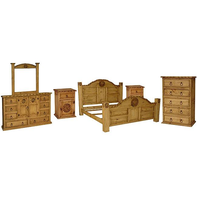 Rustic Pine Collection Rodeo Bedroom Set BEDSET03