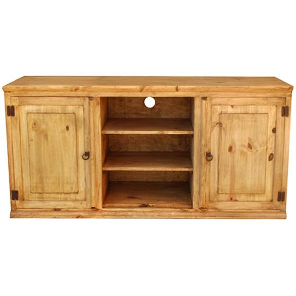 Rustic Pine Collection Roma Plaintv Stand Com316